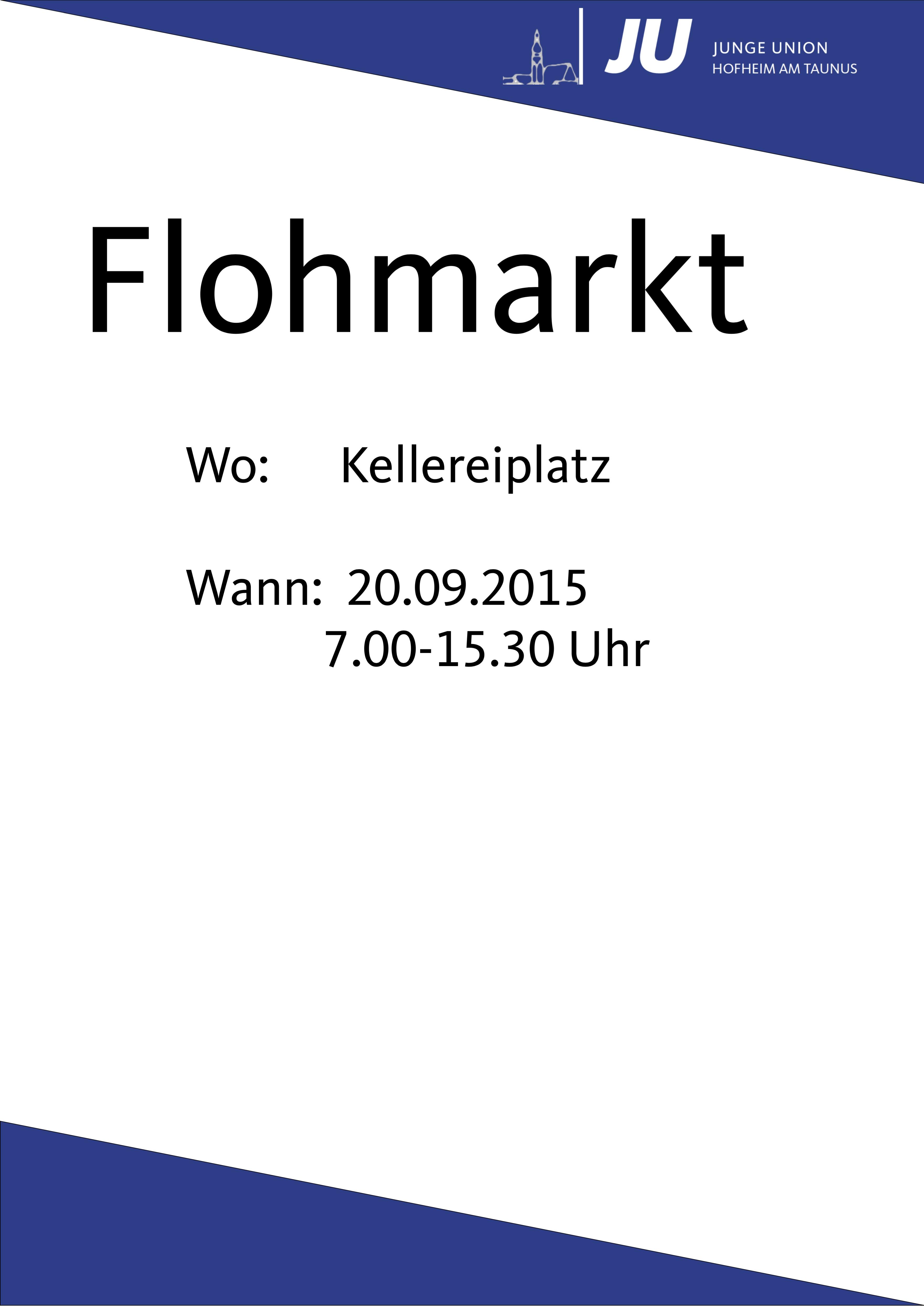 Flohmarktplakat (Webseite)